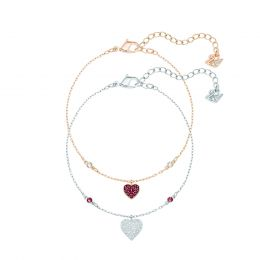 Crystal Wishes Heart Bracelet Set, M