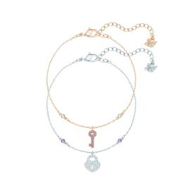 Crystal Wishes Key Bracelet Set, M