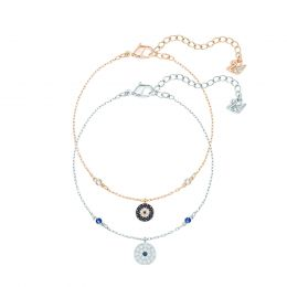 Crystal Wishes Evil Eye Bracelet Set, M