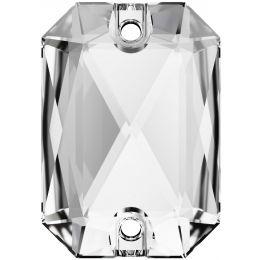 3252 Emerald Cut Sew-on Stone 14.0X10.0 MM Crystal  (001)