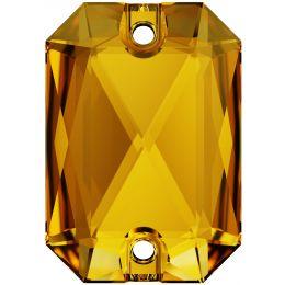 3252 Emerald Cut Sew-on Stone 14.0X10.0 MM Sunflower  (292)
