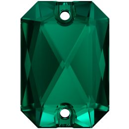 3252 Emerald Cut Sew-on Stone 14.0X10.0 MM Emerald  (205)