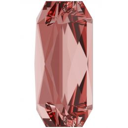 3252 Emerald Cut Sew-on Stone 14.0X10.0 MM Vintage Rose  (319)