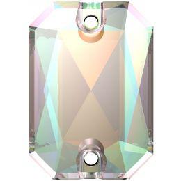 3252 Emerald Cut Sew-on Stone 14.0X10.0 MM Crystal AB (001 AB)