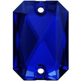 3252 Emerald Cut Sew-on Stone 14.0X10.0 MM Majestic Blue F (296)