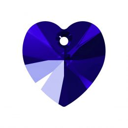 6228 XILION Heart Pendant 14.4X14.0 MM Majestic Blue F (296)