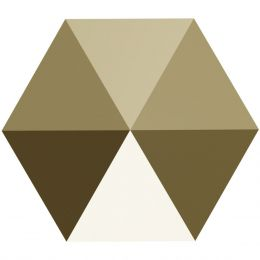 5060 Hexagon Spike 5.5 MM Crystal MLGLD (001 MLGLD)