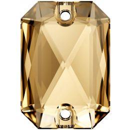 3252 Emerald Cut Sew-on Stone 14.0X10.0 MM Crystal GSHA (001 GSHA)
