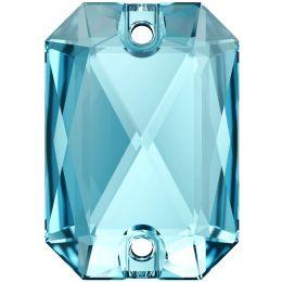 3252 Emerald Cut Sew-on Stone 14.0X10.0 MM Aquamarine  (202)