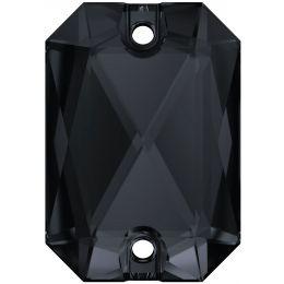 3252 Emerald Cut Sew-on Stone 14.0X10.0 MM Graphite  (253)