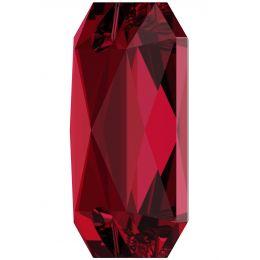 3252 Emerald Cut Sew-on Stone 14.0X10.0 MM Scarlet F (276)
