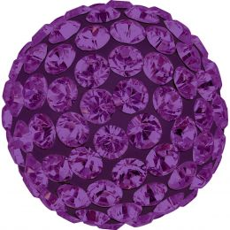 Swarovski Article 86301 Pave Ball Half Hole, Front view, Swarovski Crystal Color: Amethyst  (204) , Base color:Dark Lila (09)