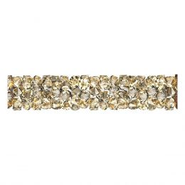 Swarovski Article 5951 Fine Rocks Tube without ending, Front view, Swarovski Crystal Color: Crystal GSHA (001 GSHA)