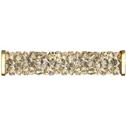 Swarovski Article 5950 Fine Rocks Tube with ending, Front view, Swarovski Crystal Color: Crystal GSHA (001 GSHA)
