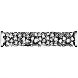 Swarovski Article 5950 Fine Rocks Tube with ending, Front view, Swarovski Crystal Color: Crystal LTCH (001 LTCH)
