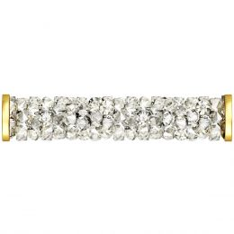 Swarovski Article 5950 Fine Rocks Tube with ending, Front view, Swarovski Crystal Color: Crystal MOL (001 MOL)