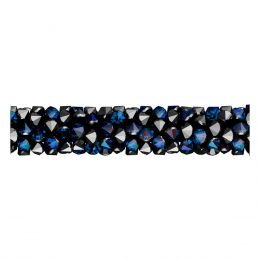 Swarovski Article 5951 Fine Rocks Tube without ending, Front view, Swarovski Crystal Color: Crystal Bermuda Blue (001 BB)