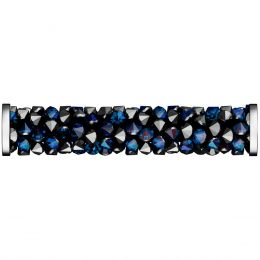 Swarovski Article 5950 Fine Rocks Tube with ending, Front view, Swarovski Crystal Color: Crystal Bermuda Blue (001 BB)
