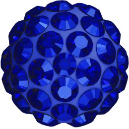 Swarovski Article 86001 Pavé Ball, Front view, Swarovski Crystal Color: Majestic Blue F (296) , Base color:Dark Blue (15)