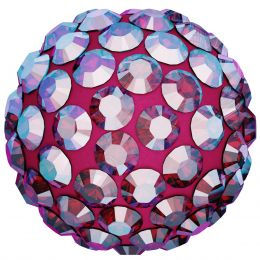 Swarovski Article 86001 Pavé Ball, Front view, Swarovski Crystal Color: Light Siam  (227) SHIMMER , Base color:Red (21)