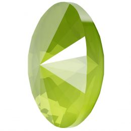 4122 Oval Rivoli Fancy Stone 14.0X10.5 MM Crystal Lime (001 L125S)