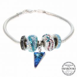 BeCharmed Turquoise Spike Bracelet with Swarovski Crystals