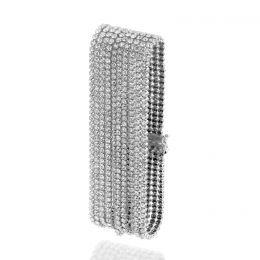10 rows tennis bracelet with Swarovski crystals
