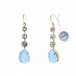 Drop earrings with Swarovski crystals tag - 1 pair