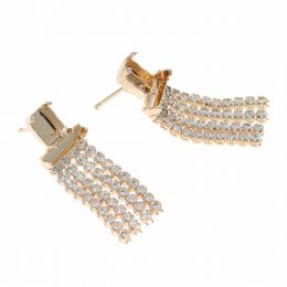8X6 Octagon, 10X3 Baguette Earrings with Swarovski Crystals Tennis Chain - Pack of 5 pairs