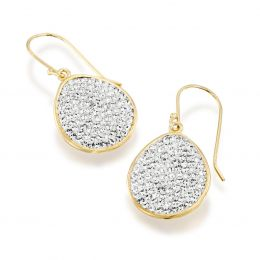 Pave drop earrings with Swarovski crystals