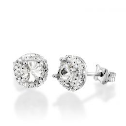 Solitaire earrings with Swarovski crystals