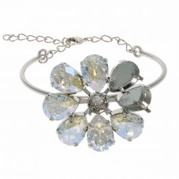 14X10 Pear, ss39 Chaton Semi finished Flower Bracelet - Pack of 2