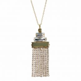 Semi finished Baguettes Necklace with Swarovski Crystals Tennis Chain - Pack of 2