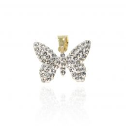 Pave butterfly pendant with Swarovski crystals