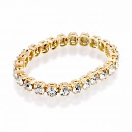 1 row tennis ring with Swarovski crystals - Size 54