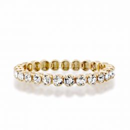 1 row tennis ring with Swarovski crystals - Size 58