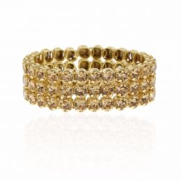 3 row tennis ring with Swarovski crystals - Size 58