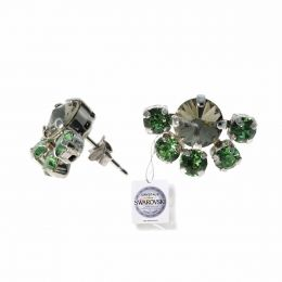 Chaton fan earrings with Swarovski crystals tag - 1 pair